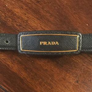 """Black Prada Belt 42"""" Like New"""